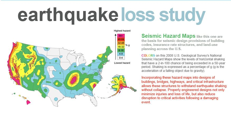 Assess, Evaluate, & Report – Earthquake Loss Study